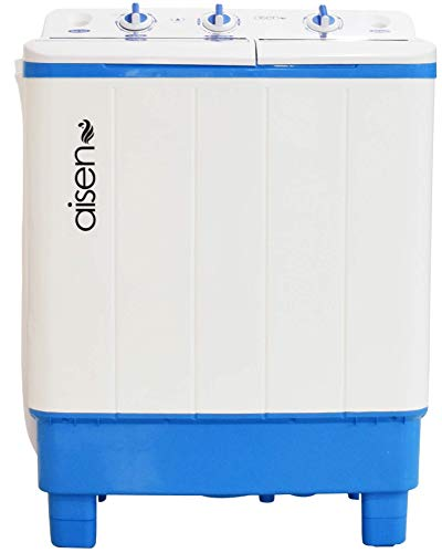 Aisen 7.0 Kg Semi-Automatic Top Loading Washing Machine with Toughened Glass (A70SWT610 - Blue, Wave Pulsator, Heavy Duty Motor)