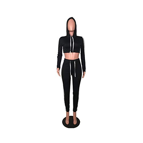 aoliaoyudonggha Women Two Piece High Waist Lace Up Leggings Suit Side Striped Tracksuit Sporting Set Pants Vera Wang Capri