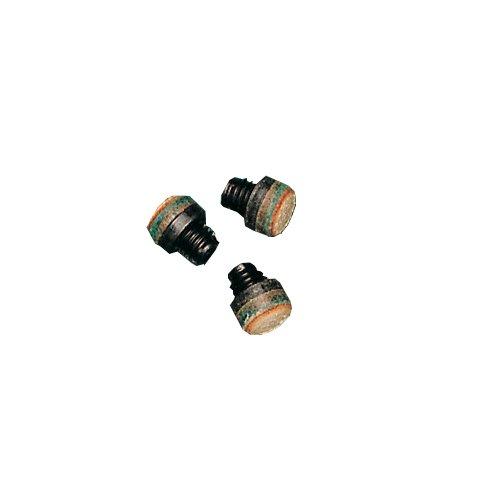 5 Stück Schraubleder 12 mm mit M8 Kunststoff-Gewinde