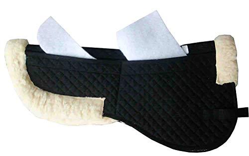 Reitsport Amesbichler Korrektur Pad HorseGuard Fell Korrekturpad mit 12 STK. Einlagen Korrektur Satteldecke Sattelanpassung Keilkissen schwarz Gr. Warmblut