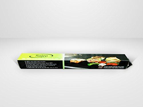 31ZB4nLcJAL - sujeo Premium Qualität Grill/Grillen Automatten für gas-bbq Grill/anthrazit/Elektrische für Steak/Burger/Hot Dogs/Gemüse, draußen, und innen Grillen BBQ Mats Sicher für Kinder Set 3