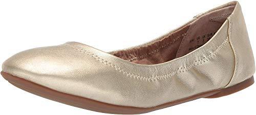 Amazon Essentials - Zapatos planos para mujer, Dorado, 8 B US EU 38-39