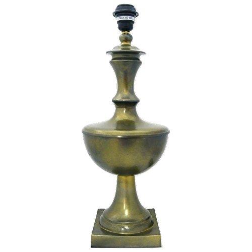 Better & best-lámpara viereckiger Tisch mit Ständer, groß, Glas, rund, Dark Gold