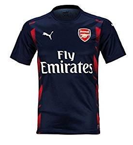 T shirt Maillot de football Officiel d'entrainement Adulte de l'equipe d'Arsenal AFC top training Blue (M)