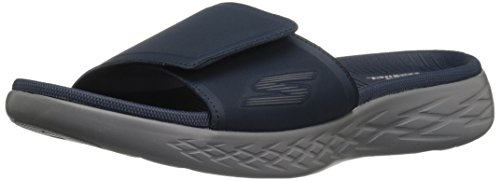 Skechers Herren On-The-GOO 600-Regal Plateau Sandalen, Blau (Navy), 47 EU -