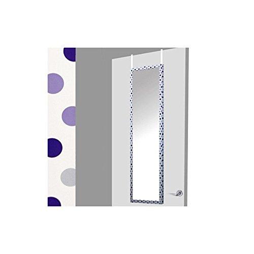 Espejo-para-puerta-blanco-con-lunares-morados-37x2x128