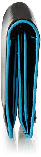Piquadro Blue Square Hochformatbörse mit Hartgeldfach, 12, 5 cm Schwarz