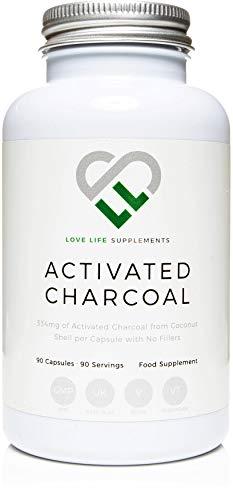 Carbón Activado por LLS | 90 Cápsulas - Suministro de 3 meses | 334 mg por cápsula | Pure...
