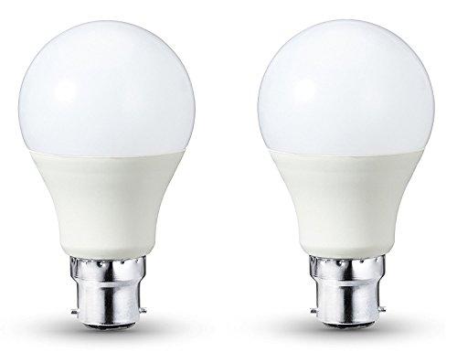 LED Leuchtmittel 5W B22Bajonettsockel 3200K Warm Weiß, 450Lumen, entspricht 40Watt Halogen, 30000Stunden, 270Grad Abstrahlwinkel, nicht dimmbar, 2Stück (Halogen-anhänger 40w)