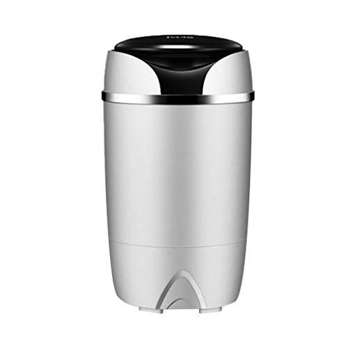 ELEXERT Mobile Waschmaschinen,Mini Waschmaschine mit Schleuder,für kompakte Wäsche, mit Wäscheschleuder,Toploader,Uv-Antibakterielles Einzelfass,Energie-und wassersparend,Haus/Hotel/Wohnung,Grey