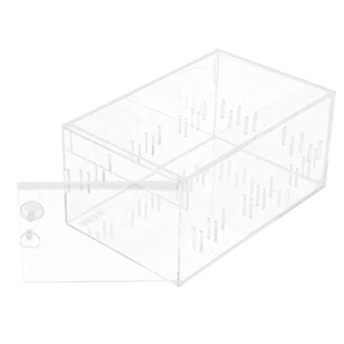 SM SunniMix Terrarium Fütterungsbox Transportbox für Reptilien - Seite offen Einzelkabine