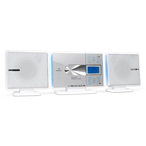 auna VCP-191 minicadena (sistema estéreo con reproductor de CD, MP3,