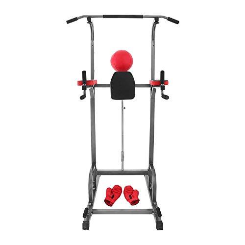 FlowerW Kapazität 250KG Trainingsstation 1.4m bis 2.2m Einstellbar Energie Turm Multifunktionsstation Workout Fitness Gym Station