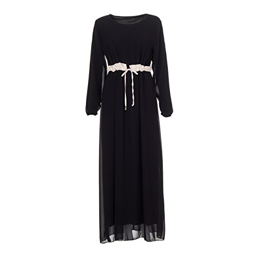 Generic Damen Kleid Schwarz schwarz Einheitsgröße (34-40) Schwarz