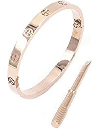 Fire Ants Love Bracelet,Only I Can Unlock Your Heart with Rose Gold/Silver