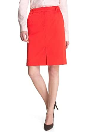 ESPRIT Collection Damen Rock (knielang) Normaler Bund Q23037, Gr. 36 (S), Rot (625 Fire Red)