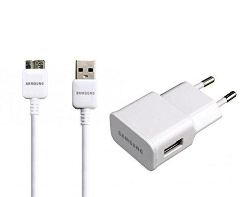 Samsung Ladegerät Netzteil EP-TA10EWE mit USB 3.0 Ladekabel ET-DQ10Y0WE für Samsung GALAXY Note 3 - weiss -