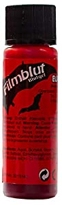 Eulenspiegel Profi-Schminkfarben GmbH Búho Espejo 405628película Sangre/Sangre Gel 20ml para Halloween, Claro, Vegano, Color Rojo
