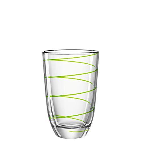 montana LD Becher :Jolly - Longdrinkglas, Wasserglas, Trinkglas, Gläser-Set, Saftgläser, Set 6-teilig (Grün)