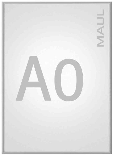 Maul 6604408 Klapprahmen A4, Plakatrahmen Aluminium, 33 x 24,3 x 1,2 cm (HxBxT), 1 Stück