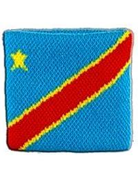 Digni® Poignet éponge avec drapeau République démocratique du Congo, pack de 2