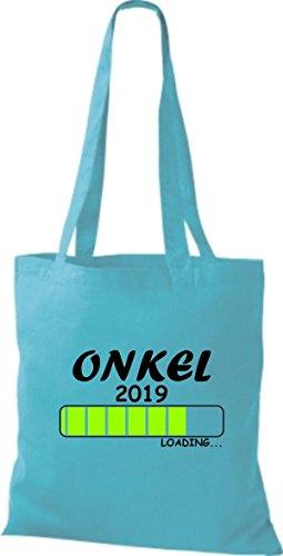 ShirtInStyle Stoffbeutel Baumwolltasche Loading ONKEL 2019 Sky