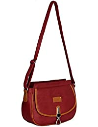 PETER INDIA,STYLISH MAROON SLING BAG FOR-GIRLS(003)