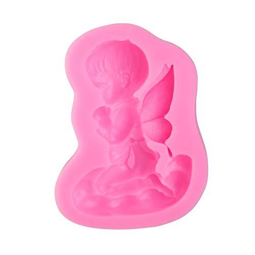 Kongqiabona DIY Little Angel Beten Handgemachte Seife Silikonform Fondantform Kuchen Schokoladenform Küche Backen Dekorieren Werkzeug (Angeln Seife)