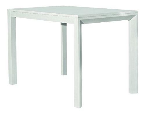 Fashion commerce fc659 tavolo, legno, bianco, 110x70x77 cm