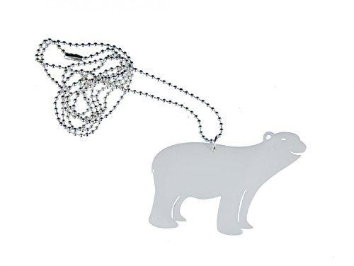 Miniblings Eisbär Acrylglas Kette Halskette 80cm Eisbär Polar Acrylglas weiß -