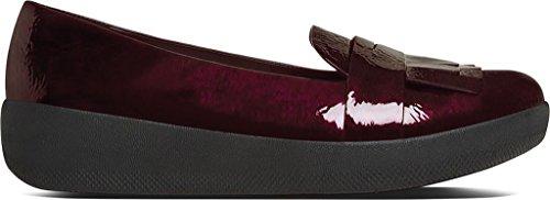 Scarpe Fitflop Fringey Sneakerloafer Ciliegio Scuro Dark Cherry