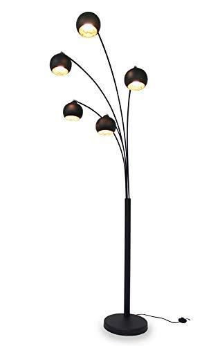 Kiom Bogenleuchte Fran 5-armig schwarz + blattgold 220cm 10850