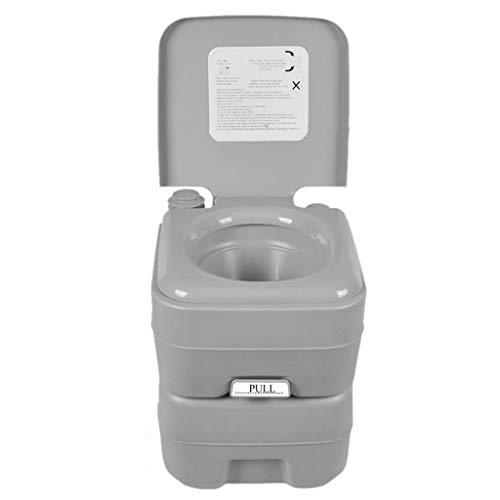 LIU UK Portable Toilet Tragbare Camping WC Wohnwagen Wohnmobil Loo Caravan Flush Reise Indoor Outdoor Wandern Bootfahren TöPfchen Kommode 20L Abnehmbare Toilette