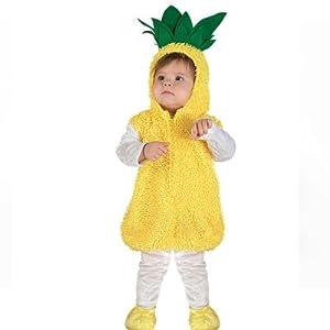 Clown Republic - Disfraz de piña para bebé, unisex, 27724/24, multicolor