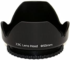 Powerpak JJC 55mm Lens Hood For Sony Alpha Series A99 A77 A65 A58 A57 A55 A390 A100 DSLR Cameras With 18-55mm, 75-300mm f/4.5-5.6, 50mm f/1.4 Lenses.