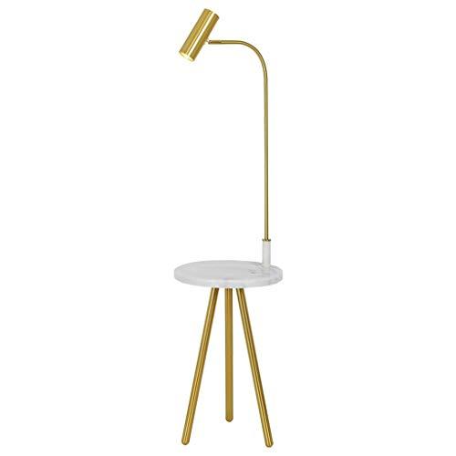 *Stehlampe Stehlampe, Kombination Esstisch Stehlampe, Geeignet Für Wohnzimmer Sofa Verstellbarer Tisch Nachttisch Marmor Stehlampe Stehlampe gewölbt (Color : Remote control source)