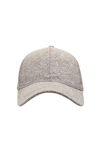 Mountain Warehouse Womens Baseball Cap - Casual Sommer Hut, leichte Damen Cap, atmungsaktive Beanie Cap, Naturfasern Sonnenhut, Klettverschluss-Für Reisen Hellgrau (Sommer-hut Casual)