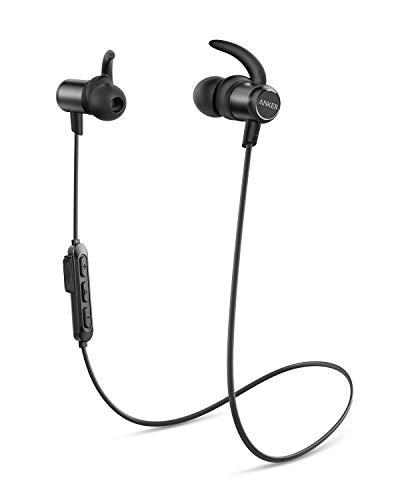 Anker Cuffie Bluetooth 5.0 Soundbuds Slim, Impermeabilità IPX7, 10 Ore di Autonomia, Auricolari Bluetooth Sport, Ricarica Veloce, Accessori in Più Dimensioni, per Sport, Corsa, Palestra, Lavoro, Cas