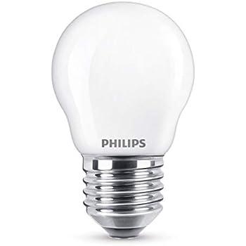 Philips bombilla LED E27, 4.3 W, luz blanca
