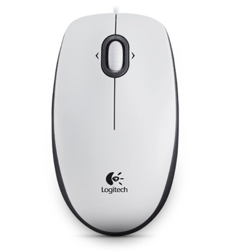 Logitech M100 Optical Mouse White - Ratón óptico, blanco