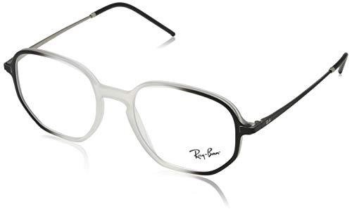 Ray-Ban Unisex-Erwachsene 0RX7152 Brillengestelle, Schwarz (Transparente On Top Black), 52