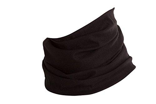 Hilltop Multifunktionstuch, Kopftuch, Motorrad Halstuch, Bandana viele Farben, Farbe/Design:schwarz uni