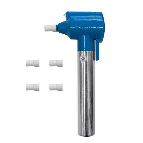 Pudincoco Tragbare Dental Zahnweißer Griff Zahnaufhellung Gummi Polierer Poliermaschine Mundhygiene Fleckenentferner Werkzeug (Blau)