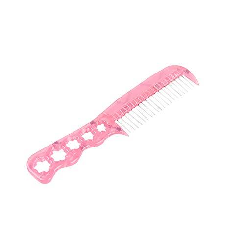 Wfz17 antistatique en acier dents Plastique Perruque Brosse Peigne Brosse à cheveux pour perruque synthétique