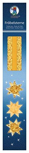 Ursus 34770000 Conjunto de 80 Tiras de Papel Froebel Estrellas de 1,5 cm x 45 cm Doré