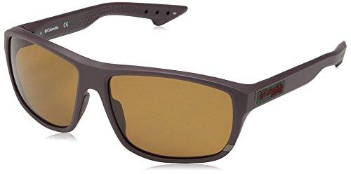 Columbia Men's Airgill Lite Polarized Oval Sunglasses, Matte Cinder, 60 mm
