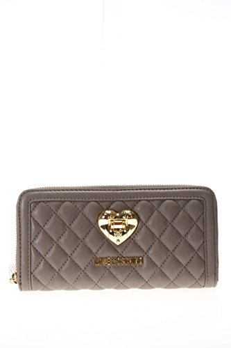 Love Moschino Woman Wallet Zip Around Quilted Grey