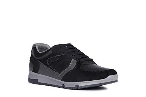 Geox Uomo Basso Wilmer, Uomini Sneaker,Scarpe Sportive,Sneaker,Scarpa Stringata,Traspirante,Black/Anthracite,42 EU / 8 UK