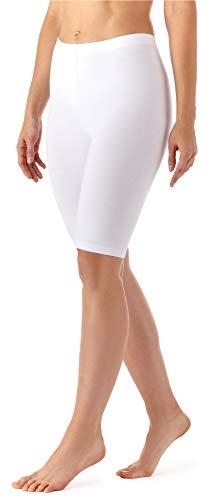 Weiße Damen Kurz (Merry Style Damen Kurze Leggings aus Viskose MS10-145 (Weiß, 42 (Herstellergröße: XL)))