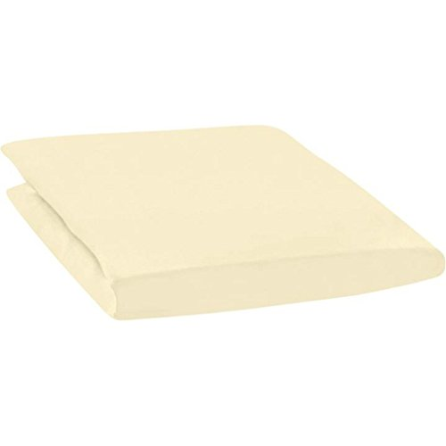 Estella Jersey Spannbetttuch I Größe 140x200 bis 160x200 cm I Farbe Leinen 205